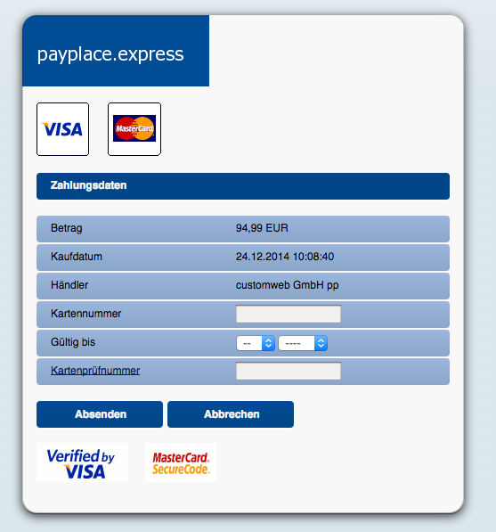 customweb GmbH - Magento payplace.express Payment Extension