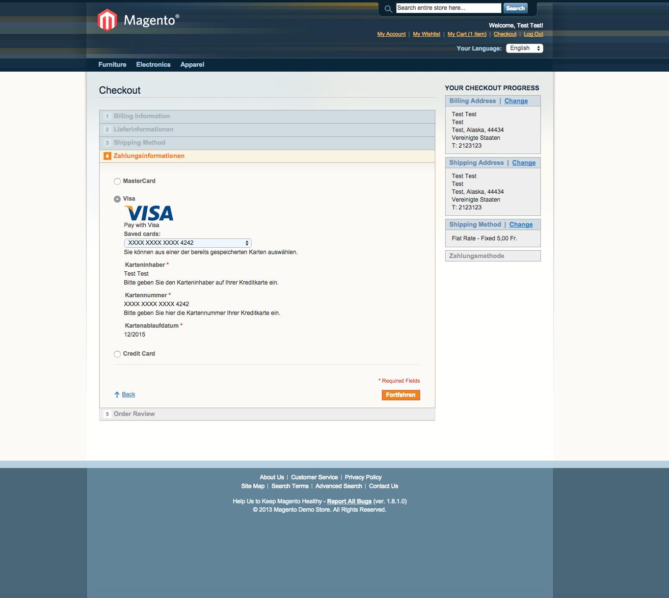 customweb GmbH - Magento Stripe Payment Extension