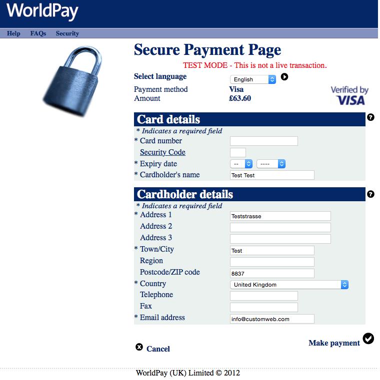 customweb gmbh prestashop worldpay payment module. Black Bedroom Furniture Sets. Home Design Ideas
