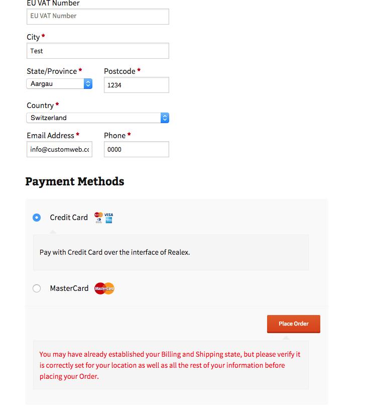 customweb GmbH - WordPress JigoShop Realex payments Payment