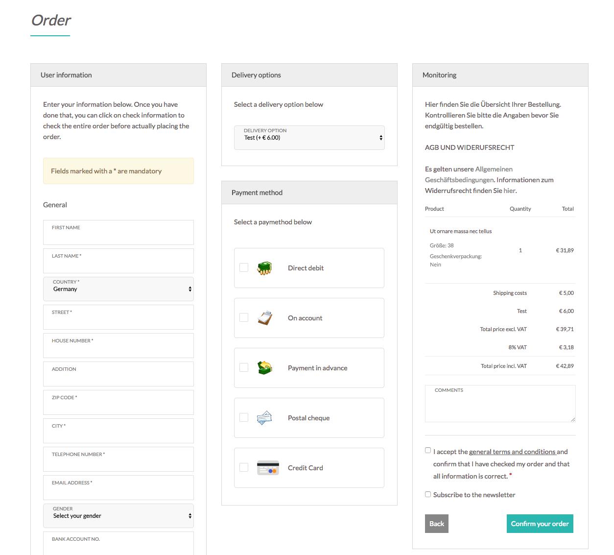 customweb GmbH - CCV Shop FirstData Merchant Services