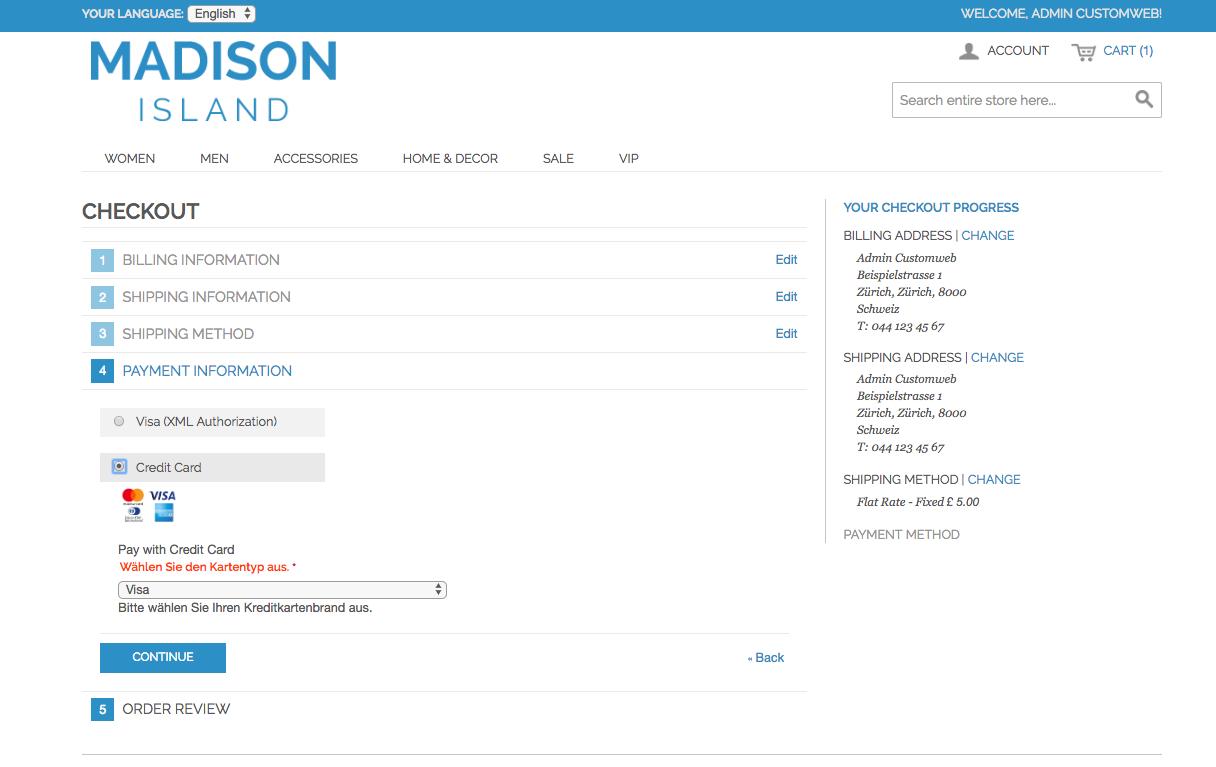 customweb GmbH - Magento Worldpay Payment Extension