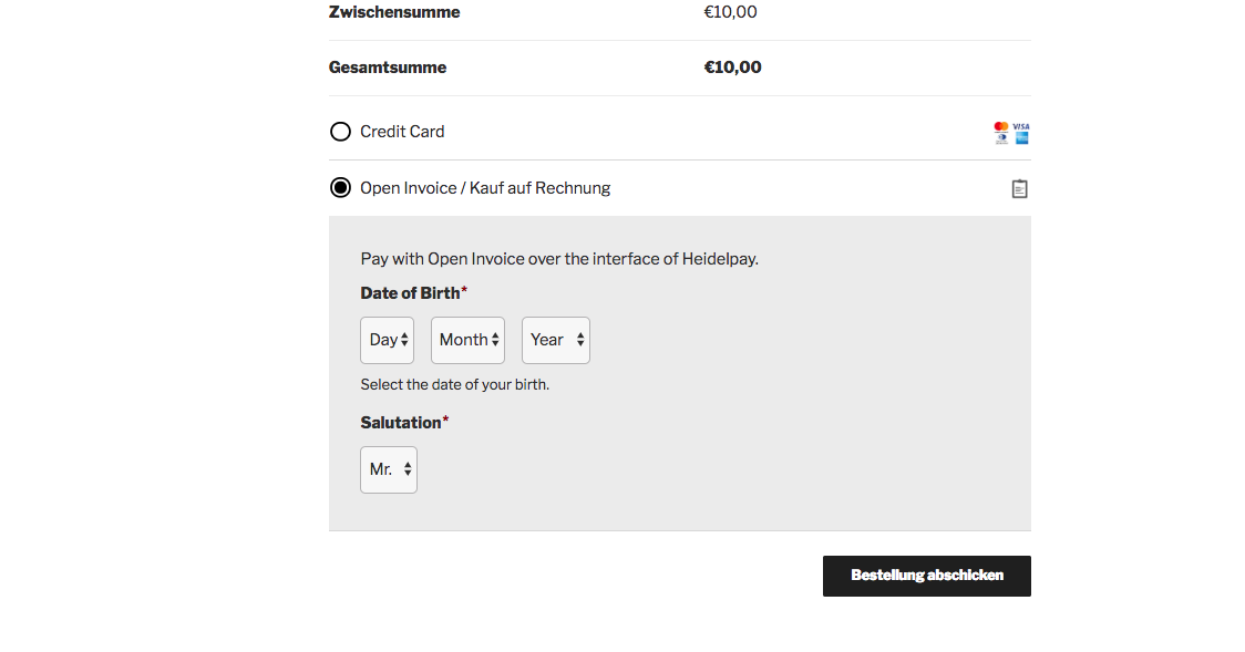 Customweb Gmbh Wordpress Woocommerce Heidelpay Zahlungs Plugin