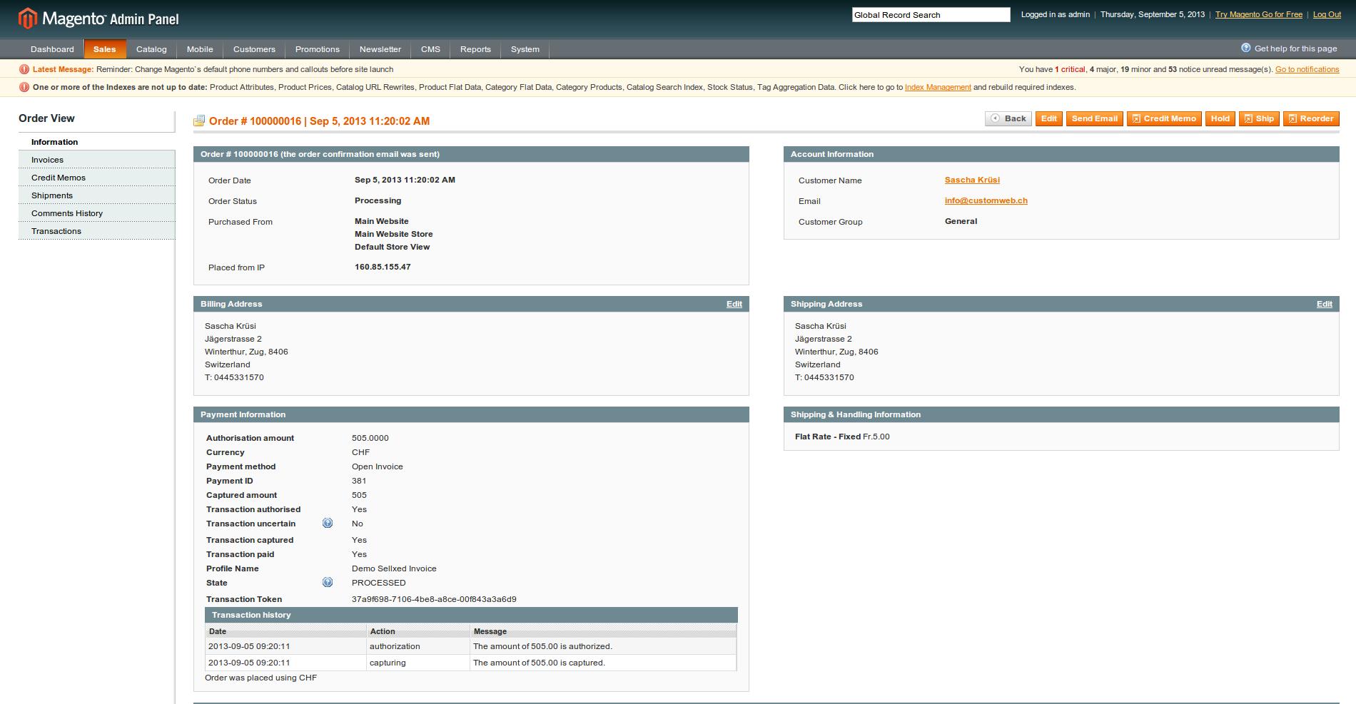 Customweb GmbH Magento Curabill Invoicing Module - Open invoice payment method