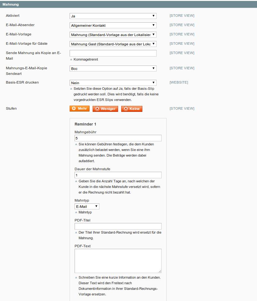 customweb GmbH - Magento ESR/BESR Payment-Extension (orange ...