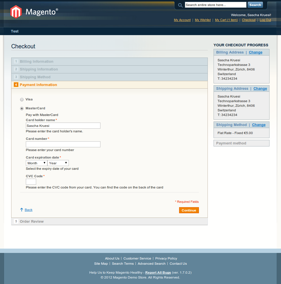 customweb GmbH - Magento First Data Merchant Solutions