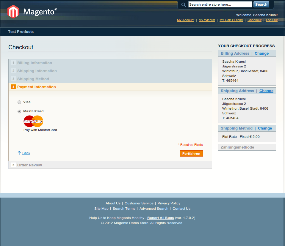 customweb GmbH - Magento Adyen Payment Extension