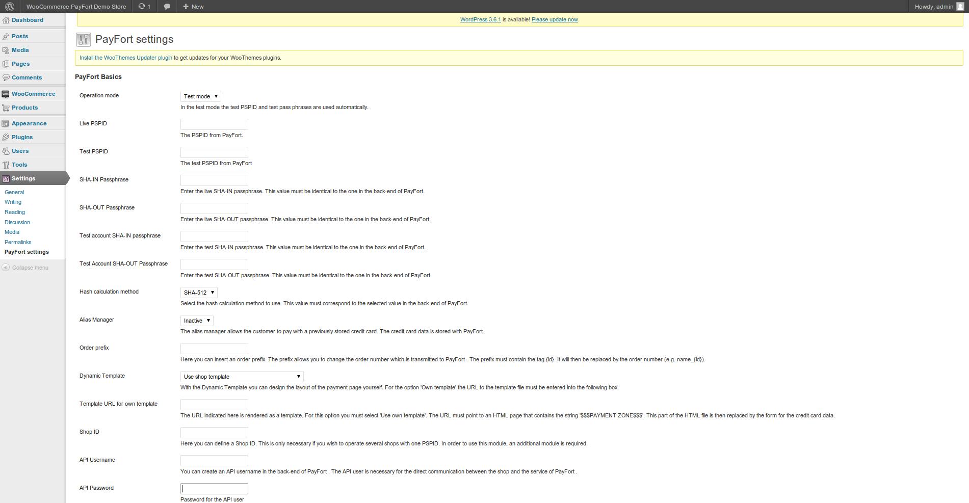 customweb gmbh wordpress woocommerce payfort payment plugin screenshots